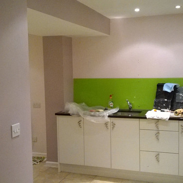 This interior decorating converted this old room into a home business space in Hitchin SG5 hertfordshire by www.oaktreeltd.co