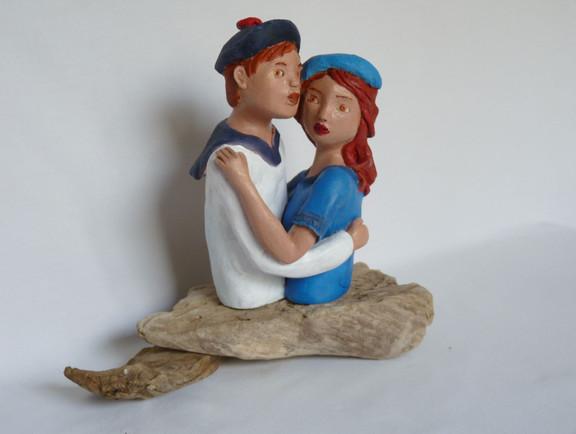Petit couple d'amoureux  17X11    150€