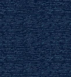 Light blue cursive writing against a dark blue background