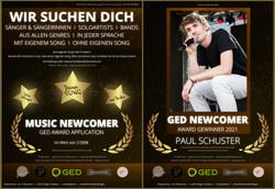 MUSIC Newcomer Award - Plakate