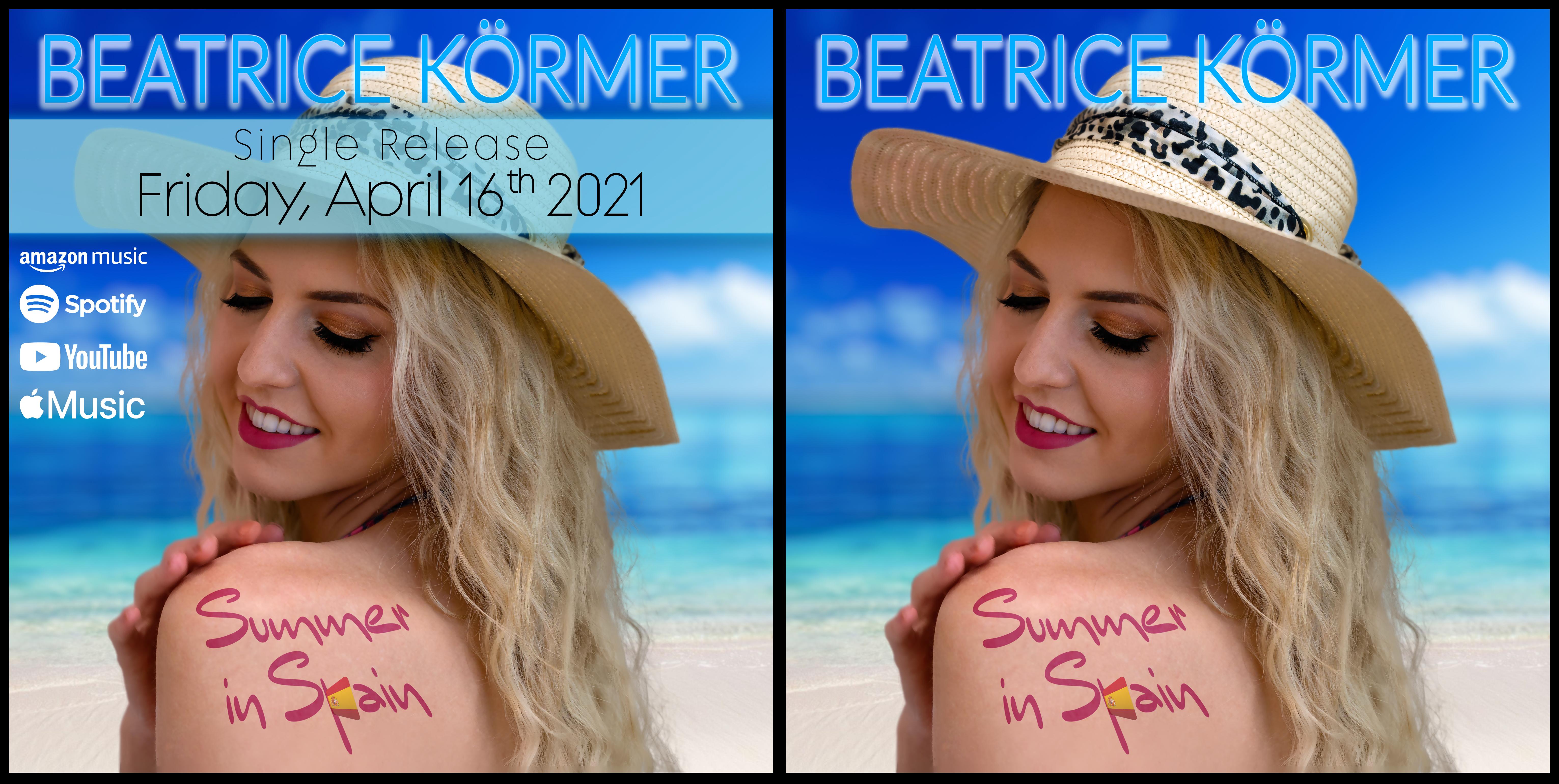 BEATRICE KÖRMER Summer in Spain - Vorankündigung & Cover