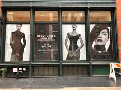 Herve Leger Store Window
