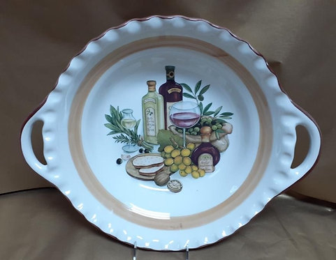 """19.5"""" Balsamic Deep Round Bowl With Handles"""