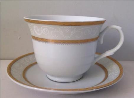 Gold Wreath Tea Cups