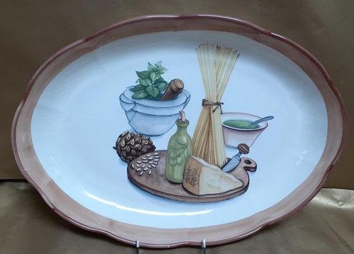 "18"" Pesto Shallow Oval Serving Platter"