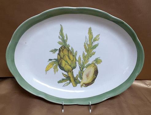 "16"" Artichoke Shallow Oval Platter"