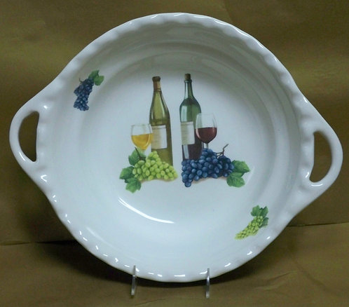 "16.5"" Vini Deep Round Bowl With Handles"