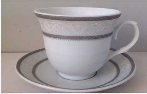 Silver Wreath Tea Cup Set