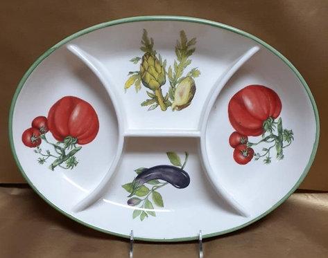 "18"" Vegetable Antipastiera Sectional Platter"