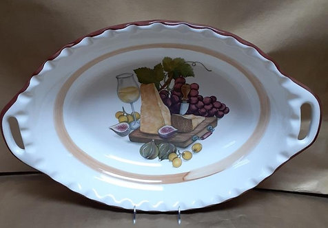 """23"""" Reggiano Deep Oval Bowl With Handles"""
