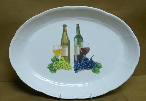 """16"""" Vini Oval Shallow Platter"""