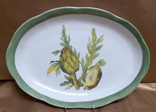 "18"" Artichoke Shallow Oval Platter"