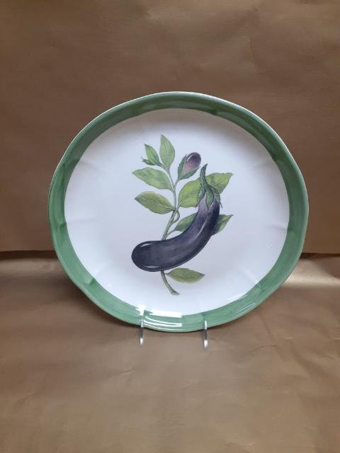 """14"""" Eggplant Piatto Riso Rice Dish"""