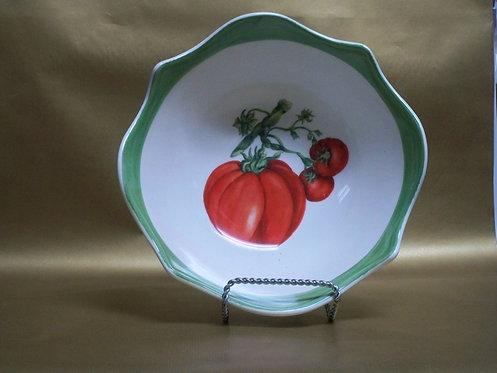 "10.5"" Sole Tomato Deep Round Salad Bowl"