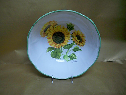 "14"" Girasole Deep Round Salad Bowl"