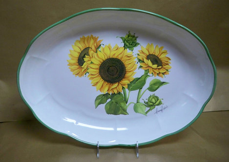 "18"" Girasole Shallow Oval Serving Platter"