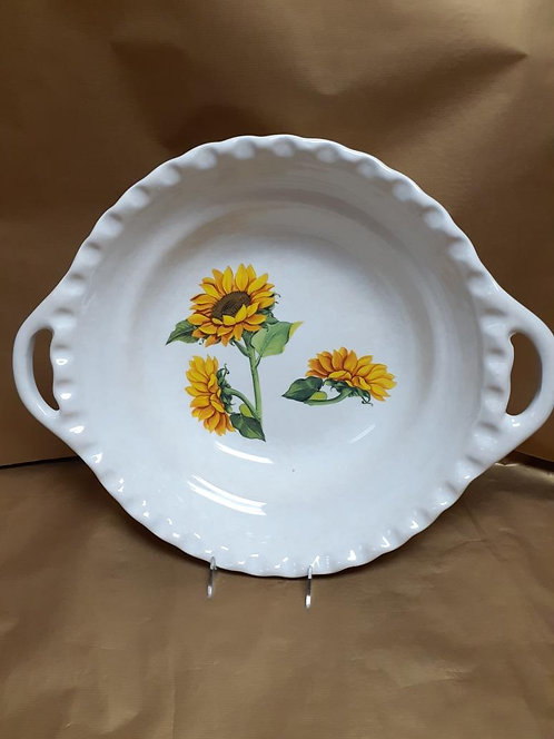 "19.5"" Girasole Deep Round Bowl With Handles"