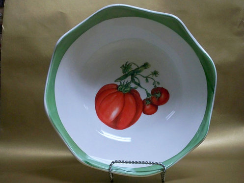 "12"" Sole Tomato Deep Round Salad Bowl"