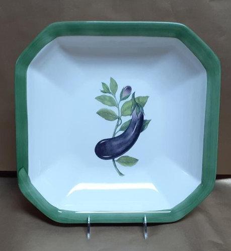 """14"""" Eggplant Octagonal Bowl"""
