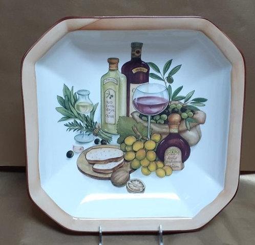 "14"" Balsamic Octagonal Bowl"