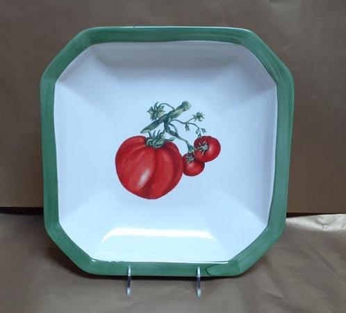 """14"""" Tomato Octagonal Bowl"""