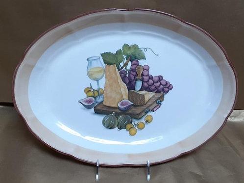 "16"" Reggiano Oval Shallow Platter"