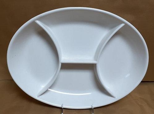 White Oval 4 Section Platter