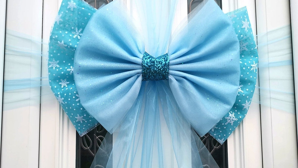 Snowflake Ice Door bow | Christmas door bow | door bow