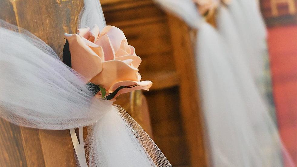 vintage Pew ends | WeddingFlower Decoration | Church Flowers