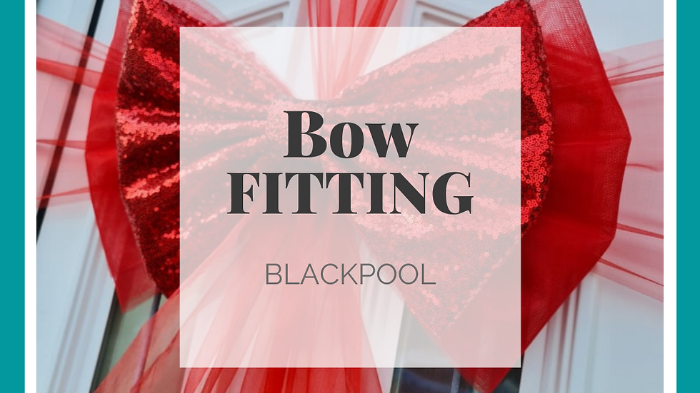 Book your Christmas Door Bow Fitting BLACKPOOL