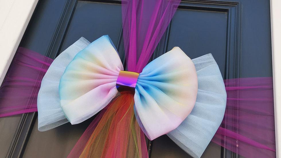 Rainbow Door bow | Bows on doors| door bows