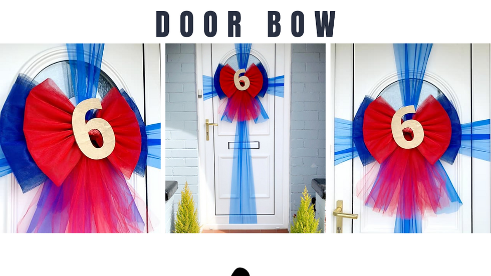 Red bow | Birthday decor | bow on door |