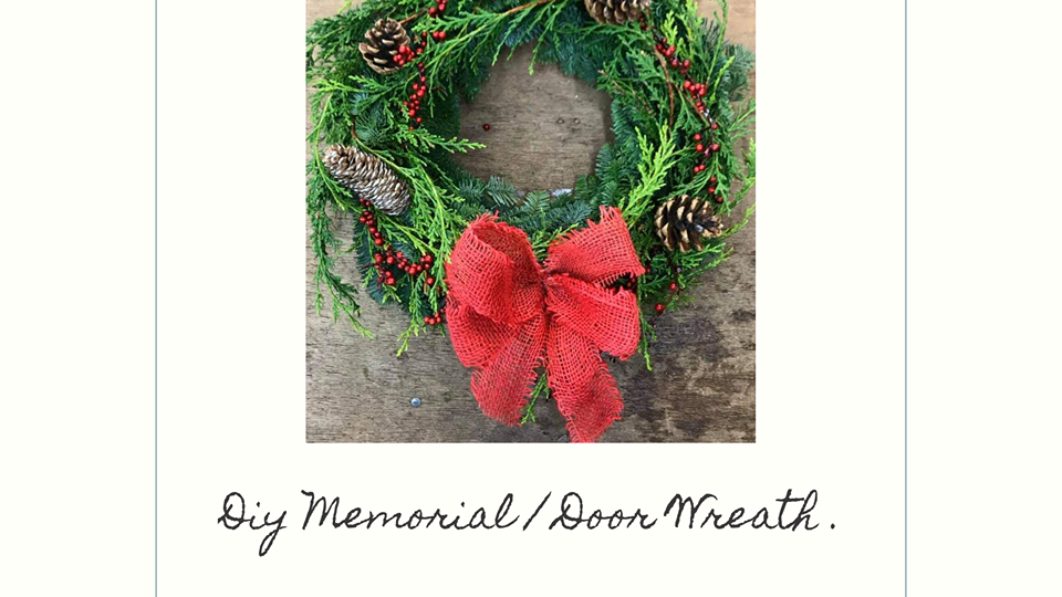 DIY fresh Christmas  Wreath | diy christmas | floral christmas