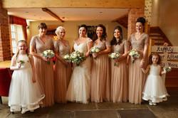 Nude rose gold wedding flowers
