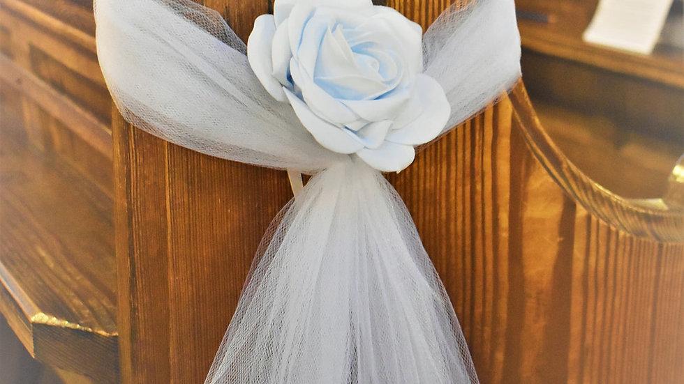 BluePew ends | WeddingFlower Decoration | Church Flowers