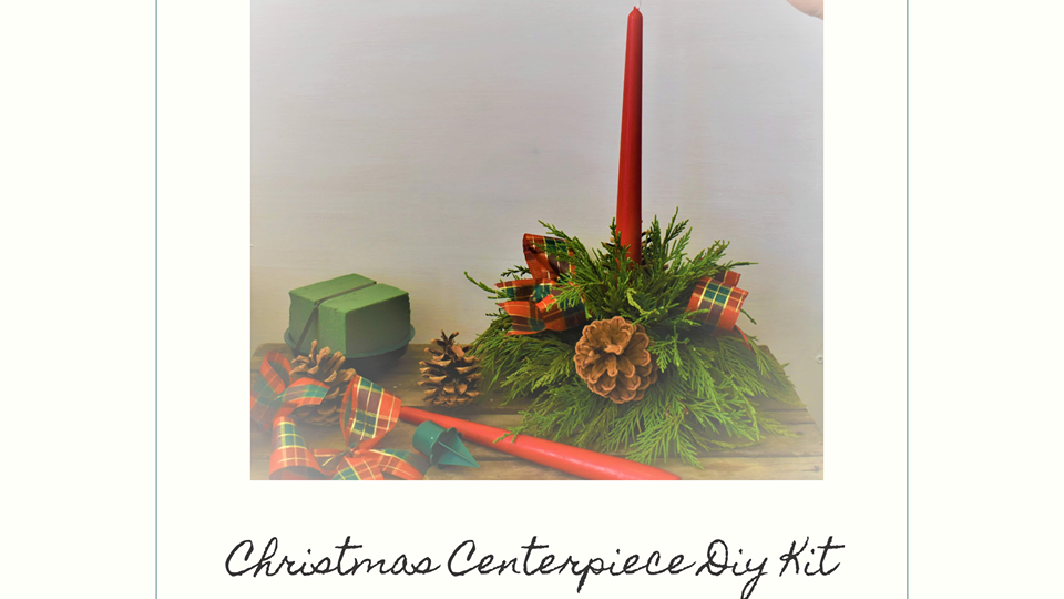 Christmas Candle Table Arrangement | diy christmas | floral christmas