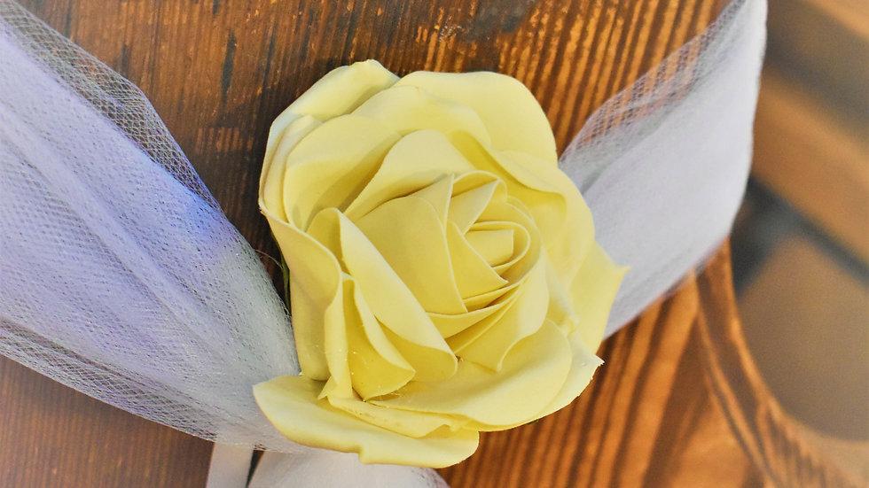 GoldPew ends | wedding decoration| Church Flowers