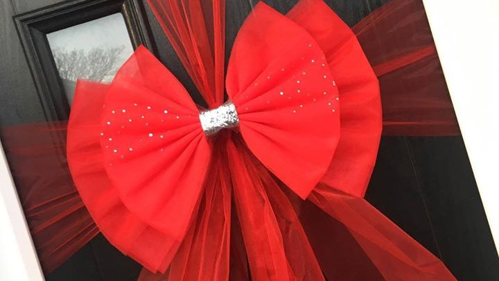 Red Door bow |  door bow kit | door bow
