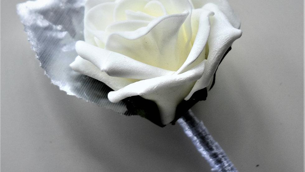 Silver Buttonhole   Wedding bouquets artificial   Wedding Flowers