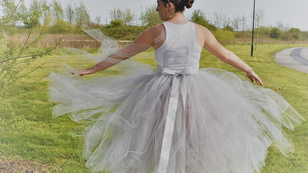 Silver Grey Princess TuTu's~  Flowergirl TuTu ... Wedding TuTu Skirt