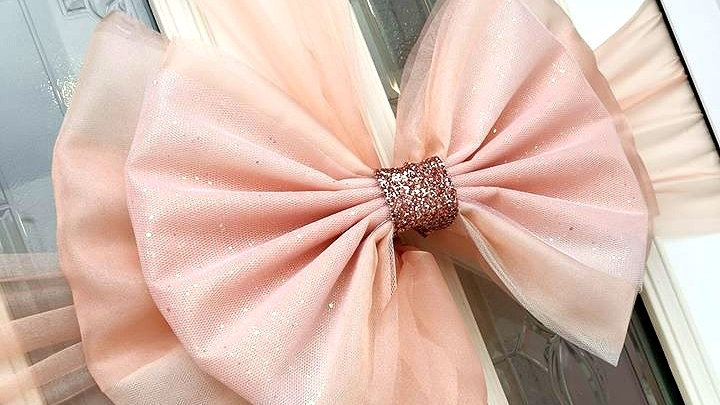 Rose Gold Door bow |  door bow kit | door bow