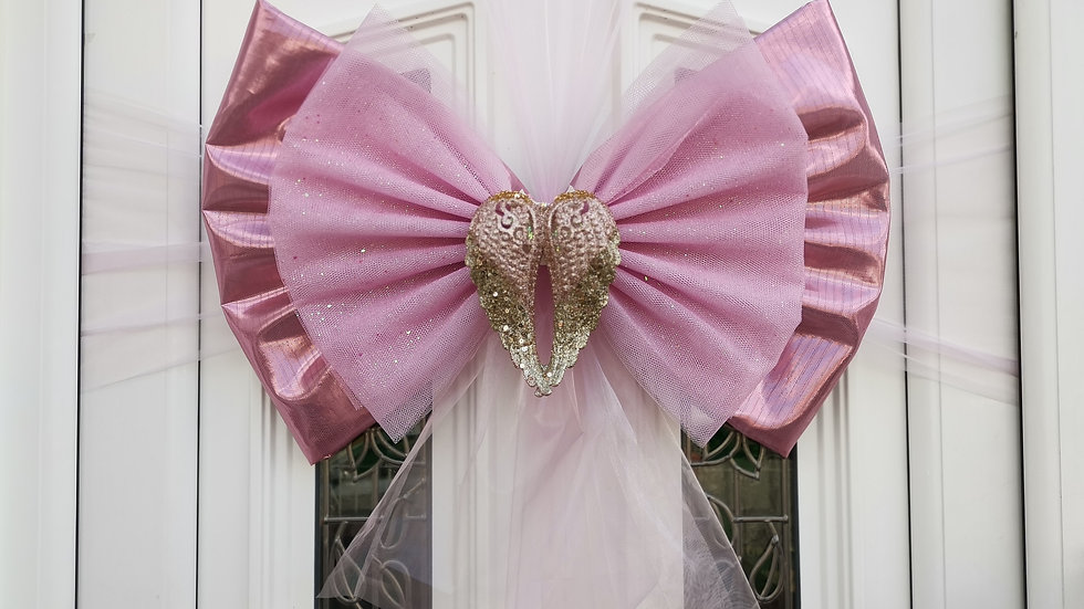 Pink Angel Door bow | door bow kit | door bow