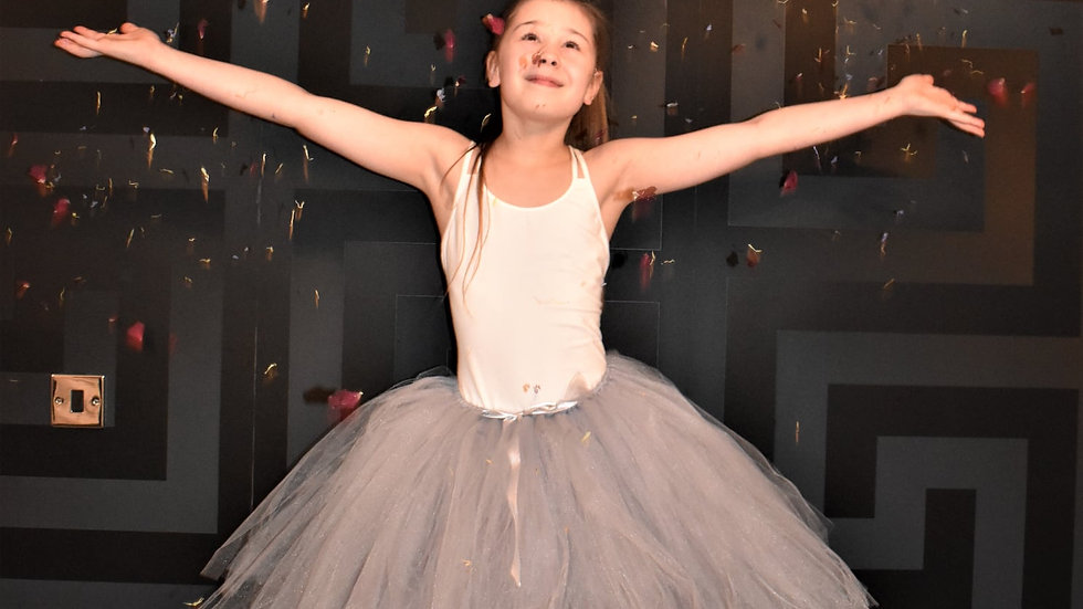 tutu skirt | Tutu dress for flowergirl | Silver grey Tutu