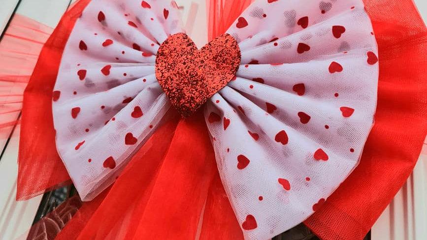 ValentinesDoor bow | door bow kit | bow on door | red door bow