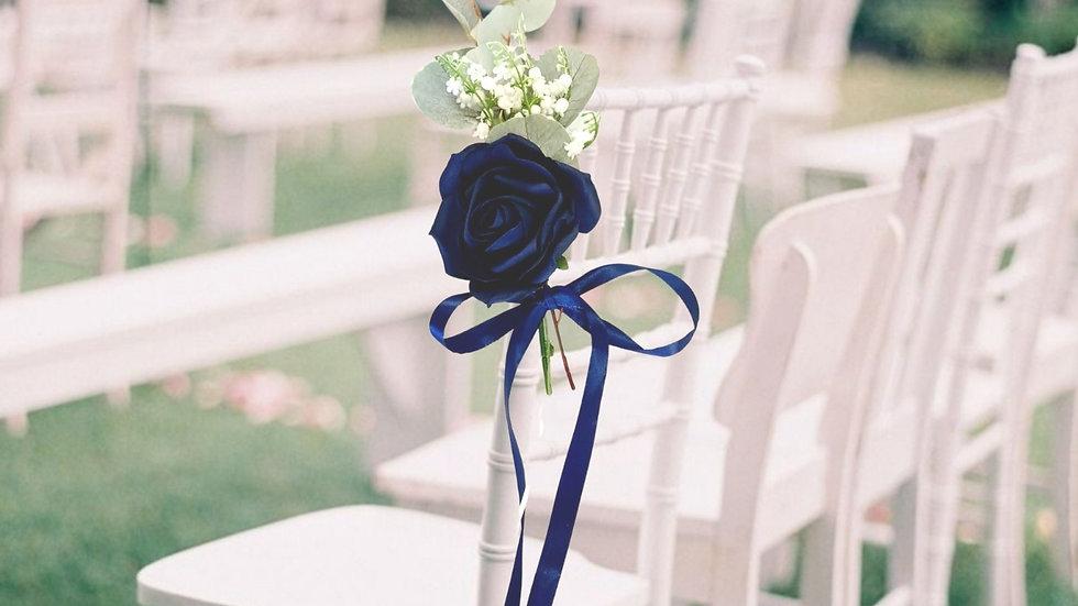 Navy Wedding decorations ~ Chair  Decor ~ Aisle Decoration