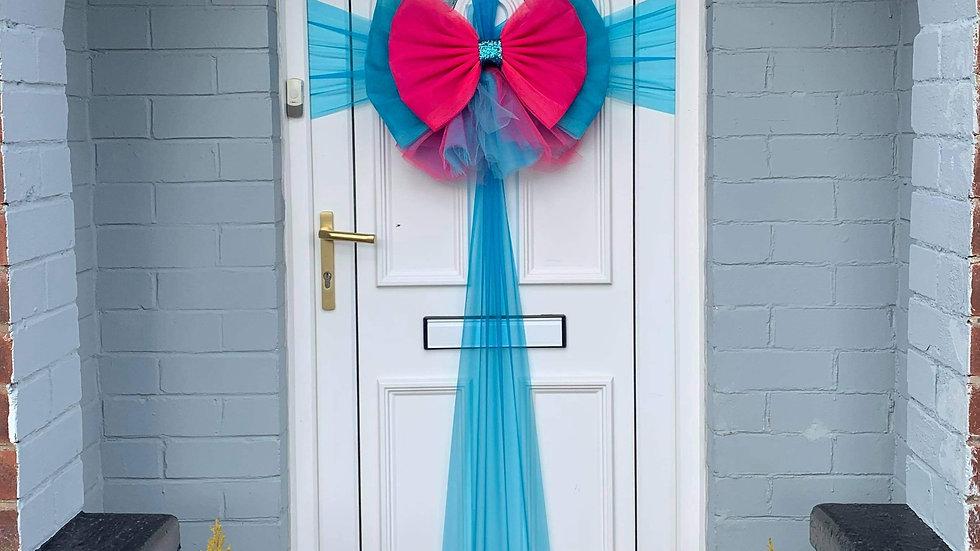 Front Door bow | door bow | turquoise door bow