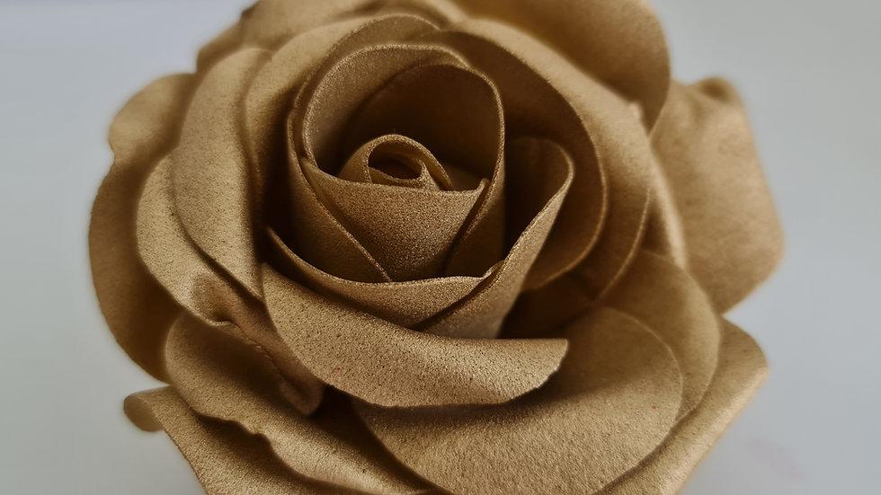 Metallic Gold Christmas  Rose Decoration Tree Garland curtain Clip on set of 6