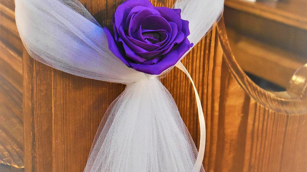 PurplePew ends   WeddingFlower Decoration   Church Flowers