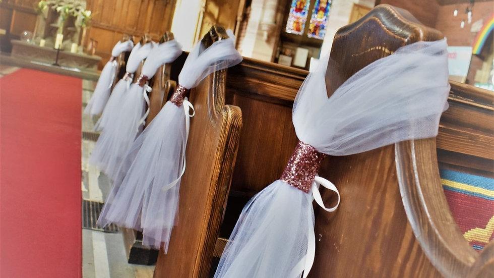 pinkPew ends | wedding decoration| Church Flowers