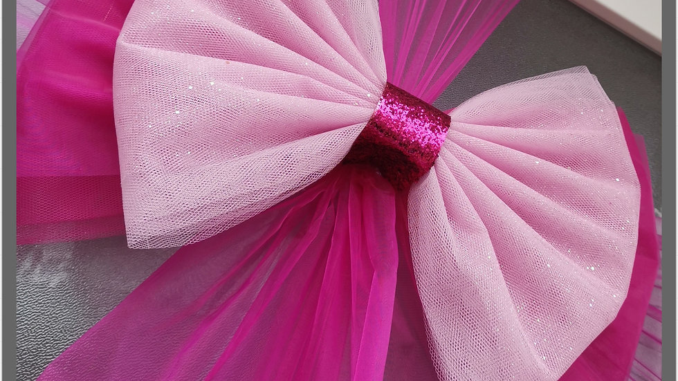 Fuchsia & Baby  Pink Door Bow ..Dress your door ..Double Deluxe